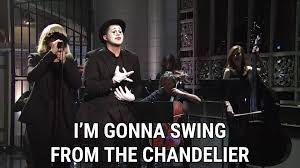 Chandelier Sia Music Video by Chandelier Live On Snl Lyrics Sia Song In Images