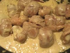 cuisiner rognons de veau recette de rognon de veau à la crème la cuillère