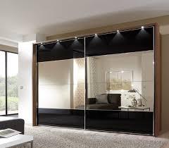 Sliding Door Bedroom Furniture Mirror Design Ideas Stripe Bronze Wardrobe With Mirror Sliding