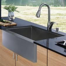 kitchen sink and faucet combo vigo vg15004 16 stainless steel zero edge single bowl