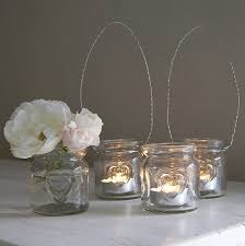 small glass hanging tealight holder by lilly