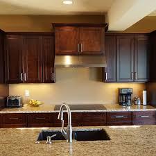 Dark Cherry Kitchen Cabinets by 24 Inch Double Door Wall Cabinet In Leo Saddle Dark Cherry Wood