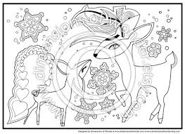 winter fairytale christmas coloring pages printables