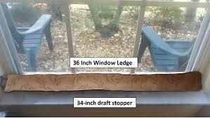 amazon com door draft stopper 34 inches heavy duty durable door