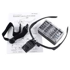 magnifier with led light high 1pcs headband magnifying glass eye repair magnifier 2 led light
