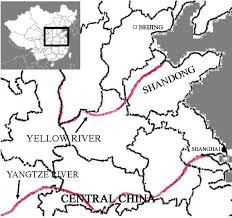 China River Map by Yellow River Flood 1898 Disasterhistory Org