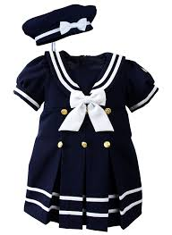 baby toddler nautical sailor dress with hat