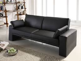 Modern Faux Leather Sofa Black Modern Faux Leather Fabrizio Design Stylish But