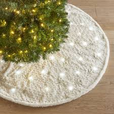 light up christmas skirt light up fuzzy snowflake tree skirt christmas tree decorating