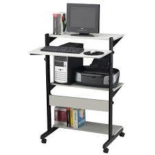 Adjustable Computer Desks Mayline Soho Adjustable Computer Table Av Cart U0026 Reviews Wayfair