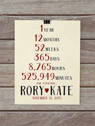 1st year anniversary gift ideas for husband 1 year anniversary present year paper wedding anniversary