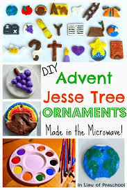 make your own advent tree ornaments in the microwave