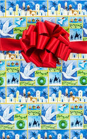 christian wrapping paper bethlehem christmas gift wrap