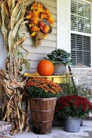 Outdoor Fall Decor Pinterest - gorgeous fall front porch inspiration i need one of those