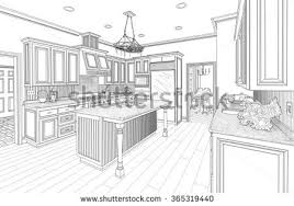kitchen drawing stock images royalty free images u0026 vectors