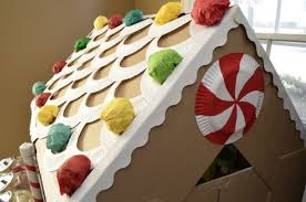 pattern for large gingerbread house cardboard gingerbread house life size inner child fun