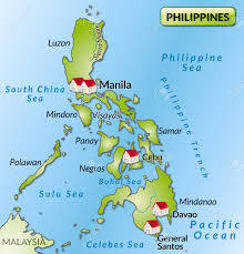 Luzon Map Map Of Philippines As An Infographic In Green Royalty Free