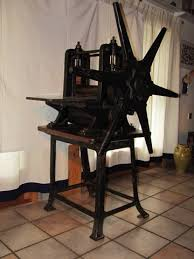 Tiefdruckpresse Karl Krause aus Leipzig ca. 1880-90 | Druckgrafik - tiefdruckpresse-karl-krause-aus-leipzig-ca-1880-90
