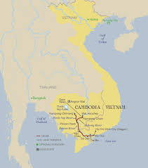 Mekong River Map 20 October 2017vietnam And Cambodia Out Travel