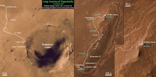 Mars Map Nasa U0027s Resilient Rover Opportunity Begins Year 9 On Mars With