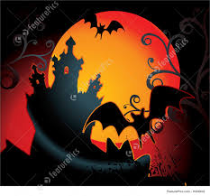 halloween background orange halloween background with full orange moon