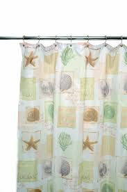 Seashell Curtains Bathroom Amazon Com Famous Home Fashions Seaside Shower Curtain Sage
