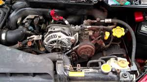 how to install subaru outback alternator youtube