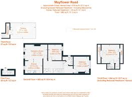 mayflower floor plan 3 bedroom flat for sale in mayflower road london sw9