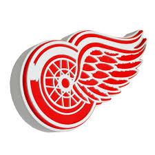 fan foam 3d wall sign amazon com nhl detroit red wings 3d foam logo sports fan street