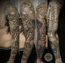 And Demons Sleeve Tattoos Fight Judge By 2face On Deviantart
