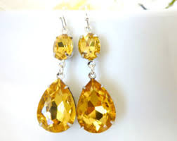 topaz earrings topaz earrings etsy