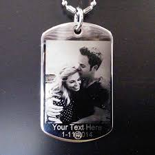 custom photo pendant dog tag engraved personalized
