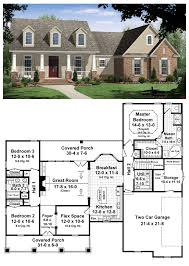 House Plans With Covered Porch House Plan 59104 Total Living Area 1800 Sq Ft 3 Bedrooms U0026 Two