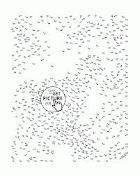 coloring pages decorative connect the dot pages 057 hard dots