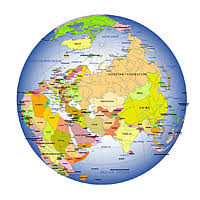 asia globe map editable royalty free map of globe in vector graphic store