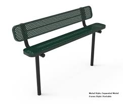 metal frame bench rhino 8 foot rectangular thermoplastic metal bench with back