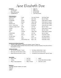 sample actor resume beginner sample actor resume beginner job