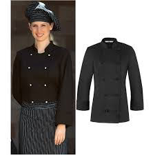vetement cuisine femme veste de cuisine femme légèrement cintrée col officier
