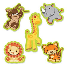 cut outs funfari safari jungle diy shaped small party cut outs 24