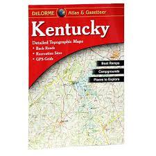 kentucky backroads map garmin delorme atlas gazetteer kentucky 19 95