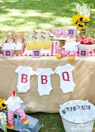 an open barbeque this is the best and easiest idea of baby shower