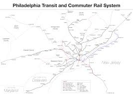 Map Of Philly Subway Philadelphia Metro Map United States