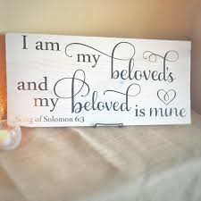 bible verse sign wood scripture sign song of solomon sign