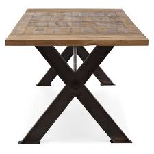 zuo modern haight ashbury table distressed natural hayneedle
