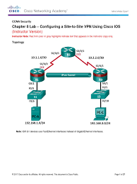 8 4 1 3 lab configure site to site vpn using cli instructor