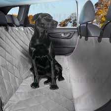 plush paws products pet car seat cover regular grey