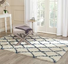 Safavieh Paradise Rug Accessories Safavieh Ivory And Blue For Moroccan Shag Area Rugs
