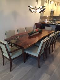 Walnut Dining Room Furniture American Walnut Live Edge Table Waight Designs