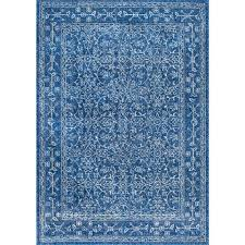 Blue Area Rugs Nuloom Vintage Waddell Blue 9 Ft X 12 Ft Area Rug Rzbd22a