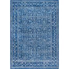 Blue Area Rug Nuloom Vintage Waddell Blue 9 Ft X 12 Ft Area Rug Rzbd22a